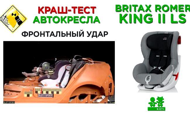 Britax Romer King Ii краш тест кресло, цена
