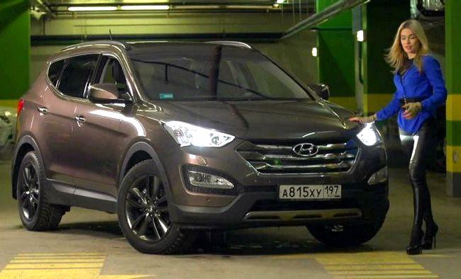 Hyundai Santa Fe тест драйв предлагающая три режима