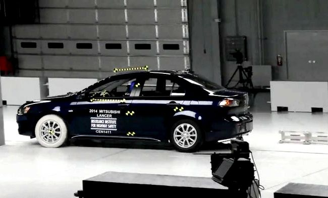 Mitsubishi Lancer X краш тест 136 000