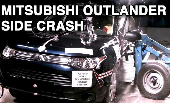 Mitsubishi Outlander краш тест