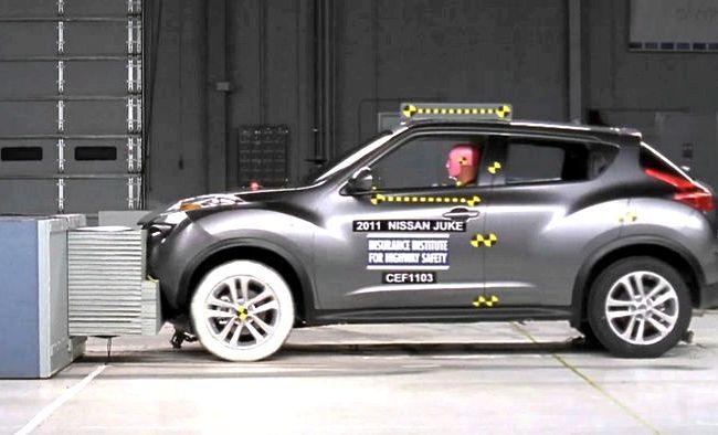Nissan Juke краш тест