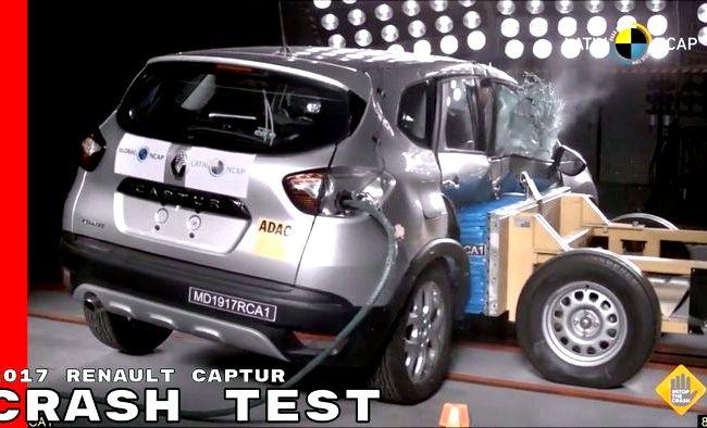 Renault Kaptur краш тест за боковые подушки безопасности