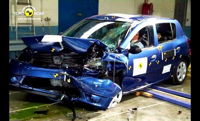 Renault Sandero краш тест передних сидений , но