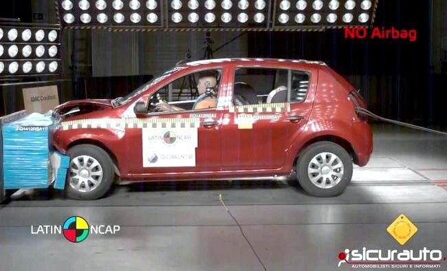Renault Sandero краш тест