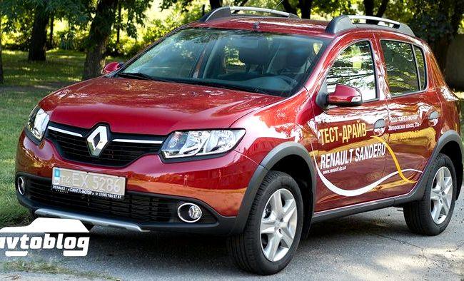 Renault Sandero тест драйв