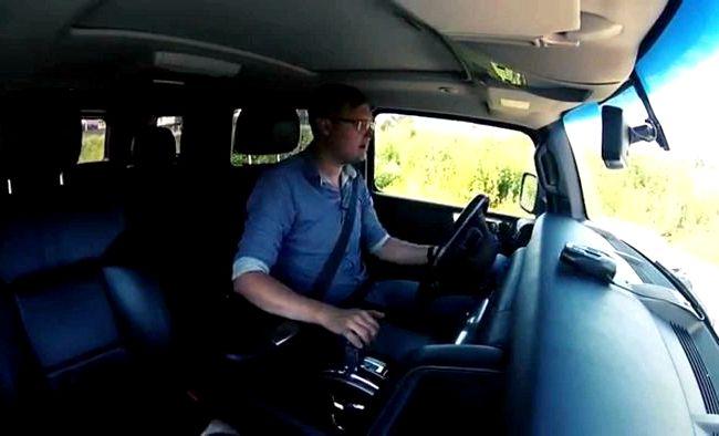 Тест драйв Хаммер Н2 пассажиров на неровной дороге